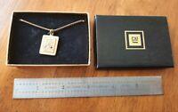 Vintage General Motor GM 1/10 10K Gold Diamond Service Award Chain Necklace
