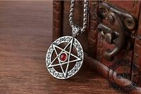 Pentagram Pentacle Pendant Occult Necklace Gothic Punk Mystical Witch Emo Star