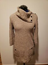 Style & Co Women's Knit Sweater Dress Pullover Cotton-Acrylic Blend Size PL