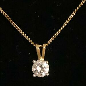 Dainty 18ct Gold & Diamond Drop Pendant Necklace & Matching Earrings 41065 CP