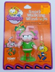 VNTG Tomy Snorks Casey Kelp With Pink Pigtails Wind Up Toy 1984 NOS OEM sealed