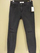Womens Juniors Vans Distressed Destructed Black Skinny Jean. New. Black. Size 5.