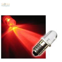 LED-Schraubsockel Lampe Birne ROT 12V E10 LEDs E 10 RED