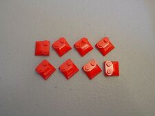 LEGO NEW Red Brick Modified 2x2x2/3 Curved Slope Lot x8 Star Wars Ninjago 47457