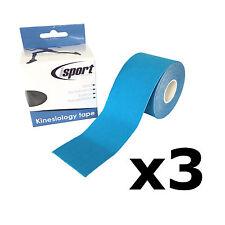 ISPORT lesione muscolare dolore kinesiologia SPORTIVE PHYSIO NASTRO sostegno 5m x 5 cm Confezione da 3