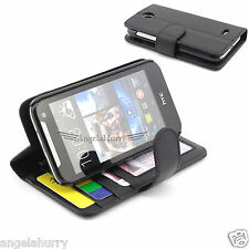 2X Premium Credit Wallet Leather Case Cover For HTC Desire 310
