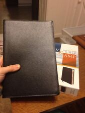 NEW! Black Bonded Leather NIV & Amplified Side-by-Side Parallel Bible RTL $69.99