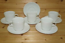 """Johnson Brothers Athena (5) Cups, 2 3/4"""" & (6) Saucers, 5 5/8"""""""