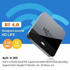 H96 Black RK3228A Android 9.0 Smart TV Box 1+8GB BT4.0 2.4G 5G WiFi Media Player