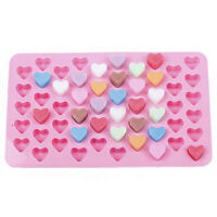 Cake Mold Chocolate Mold Soap Mold Silicone Mold for Candy Ice Cube 55 Heart
