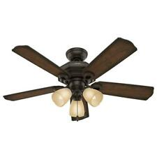 Haddington 46 in. Indoor Onyx Bengal Bronze Ceiling Fan with Light by  Hunter