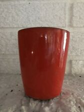Vintage Frankoma Pottery Red Orange 8 OZ Tumbler Juice Glass 5LC