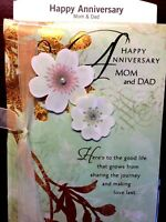 HALLMARK WEDDING ANNIVERSARY CARD For MOM And DAD MOTHER FATHER PARENTS