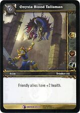 WOW Onyxia Blood Talisman 23/33 ONYXIA NEW MINT FOIL ENG WORLD OF WARCRAFT EPIC