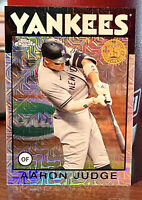AARON JUDGE 2021 TOPPS SILVER 1986 CHROME REFRACTOR #86BC-99 YANKEES