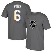 Shea Weber 2017 NHL All Star LA Official Player Jersey Grey T-Shirt Men's