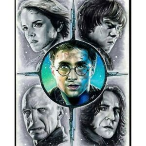5D Diamond Painting Embroidery Harry Potter Stitch Pictures Arts Kit Mural Decor