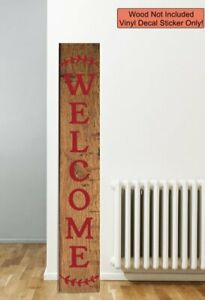 Decal Sticker For Tall Wood Sign Laurel Welcome Farmhouse Entryway Porch Decor