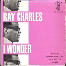 RAY CHARLES I WONDER 45T EP BIEM VEGA 90.877