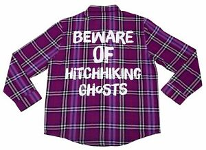 The Haunted Hitchhiking Ghosts Flannel Cakeworthy Shirt