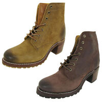 Frye Womens Sabrina 6G Lace Up Suede Ankle Boots