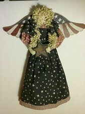 Primitive Americana Folk Art Patriotic Rag Doll Angel Country/Farm Decor
