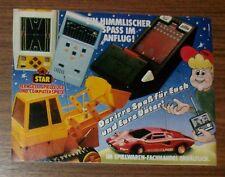 Seltene Werbung STAR LCD Handheld Space Race Invaders Basketball 1981