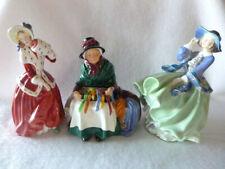 Royal Doulton Christmas Morn + Silks & Ribbons + Top o' The Hill Figurines