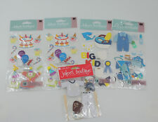 Jolees Boutique Baby Clown Birthday Baseball Dimensional Stickers Lot of 5 NEW