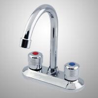 Spülbecken Wasserhahn Kupfer ABS Dual Griffe Wasserhahn Mischbatterie Wasserhahn