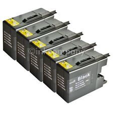 5 Discountpatronen LC1280 XL  black für MFC-J5910DW MFC-J6510DW MFC-J6710DW MFC-