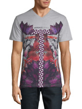VERSACE JEANS Graphic Print cotton T-Shirt Gray