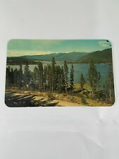 Vintage 1964 SHADOW MOUNTAIN LAKE Colorado Real Photo Postcard 4c Stamp #3446
