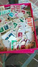 España. Caja con cientos de sellos de Franco y del Rey