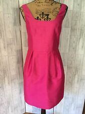 Oasis Cerise Pink Fitted Pencil Kleid mit hohen hinten Sz10/36