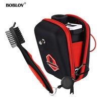 BOBLOV Golf Rangefinder Bag Case Pouch Red +Reinigungsbürste für Golfschläger