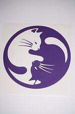 Wall Sticker Art custom Vinyl indoor decal window laptop removable Yin Yang Cats