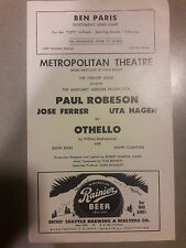 1945 PLAYBILL OTHELLO PAUL ROBESON JOSE FERRER HAGEN METROPOLITAN THEATRE 00097