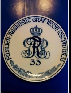 Meissen Wandteller Fusilier Regiment Graf Rohn 33