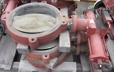 """FMC Weco Butterfly Valve 44FH 20"""" 225PSI Hydraulic Operation Rebuilded"""