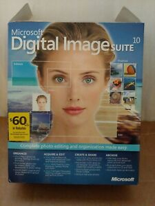 Microsoft Digital Image Suite 10 Photo Editing Software with Manual & Box