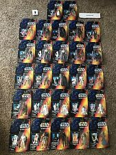 STAR WARS POTF RED CARD 27 LOT ALMOST COMPLETE! LUKE STORMTROOPER JAWAS VADER