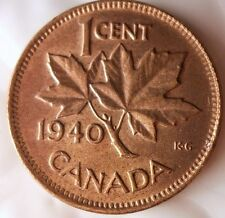 1940 CANADA CENT - Excellent Collectible Coin- FREE SHIPPING - Big Canada Bin