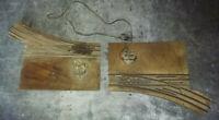 TRAIN echelle 0 paire d'aiguillage ELECTRIFIE - droit & gauche - aiguilles 33 cm