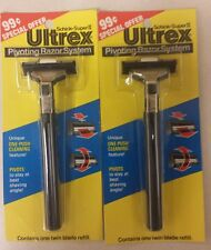 Vintage Men's Razors! Schick Super 2  Ultrex Pivoting Razor System! Nice Items!