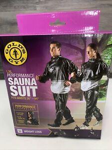 """Gold's Gym L/Xl Performance Sauna suit fits Waist 36""""-44"""""""