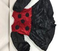 Unbranded Girls Halloween Costume Lady Bug Poka Dots Long Sleeve Red Bin79#35