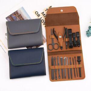 16PCS Manicure Pedicure Nail Care Set Cutter Cuticle Clippers Kit /Gift Case
