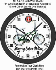 1965 SCHWINN STINGRAY SUPER DELUXE BICYCLE WALL CLOCK-FREE USA SHIP