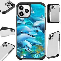 Fusion Case For iPhone 11/Pro/X/XR/XS Max Phone Cover OCEAN DOLPHIN
